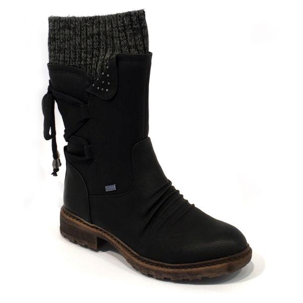 Rieker Remonte sort støvle