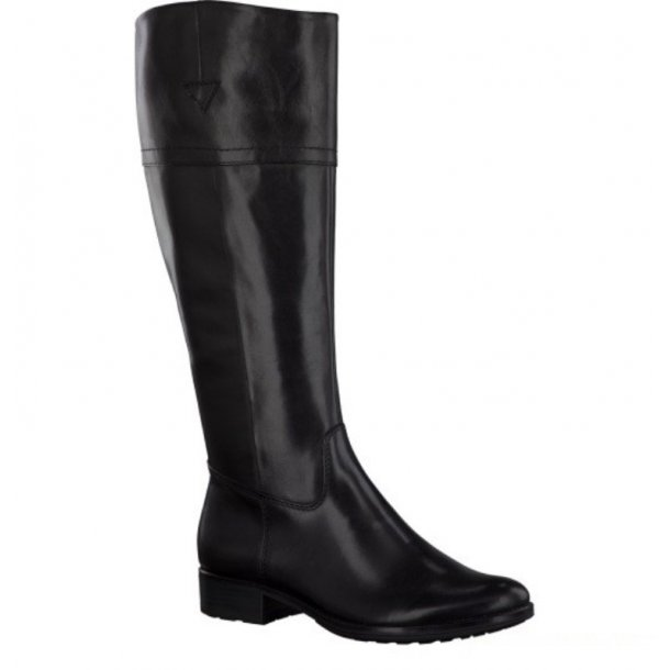 Tamaris sort skindstøvle