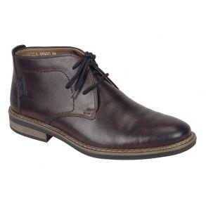 stor sort olieret støvlet