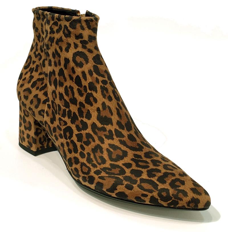 leopard print støvle