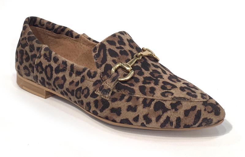sko med leopard mønster
