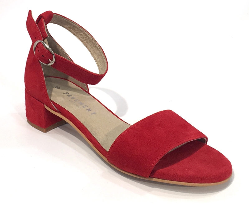 efac6b32e618 Røde sandaler dame